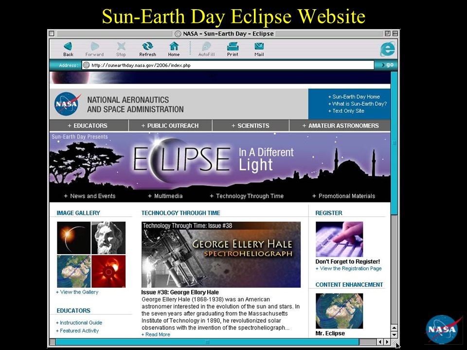 Sun-Earth Day Eclipse Website