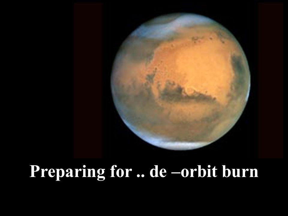 Preparing for.. de –orbit burn