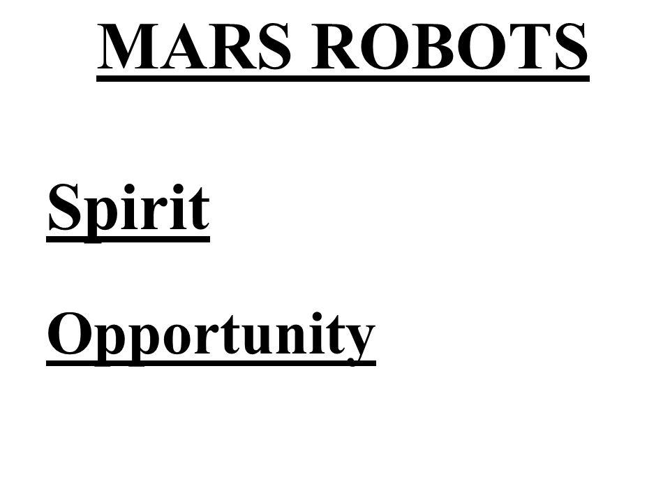MARS ROBOTS Spirit Opportunity
