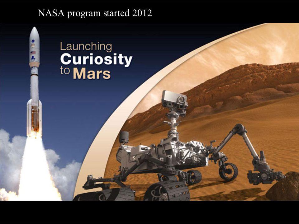 NASA program started 2012