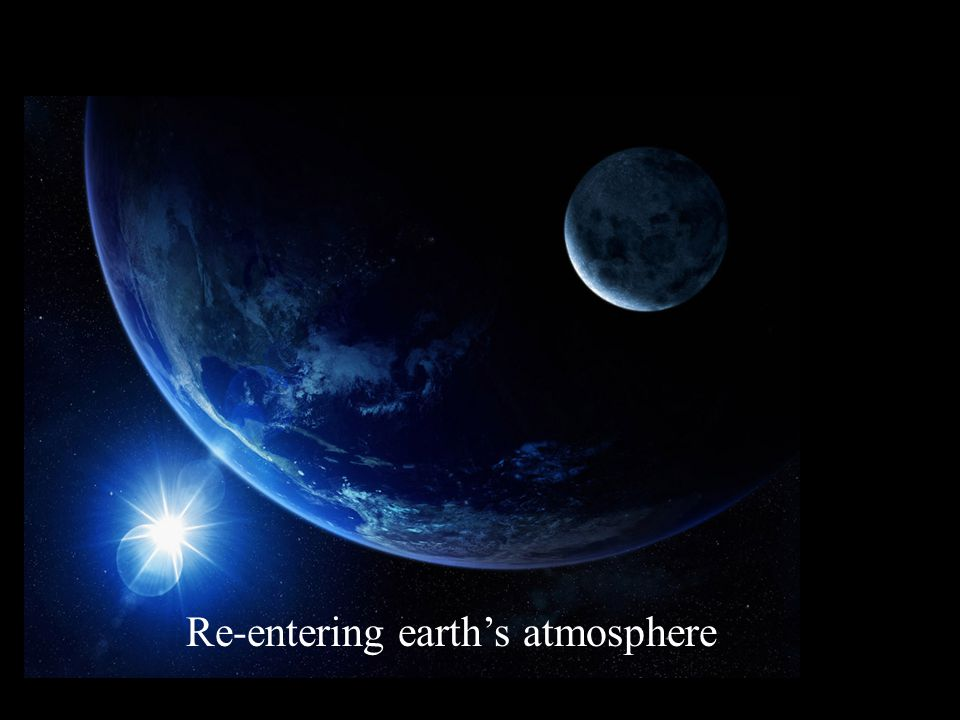 Re-entering earth's atmosphere
