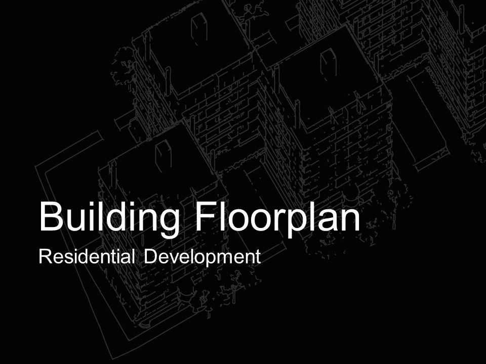 Building Floorplan Residential Development