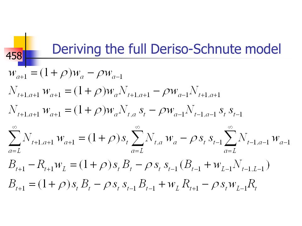 458 Deriving the full Deriso-Schnute model