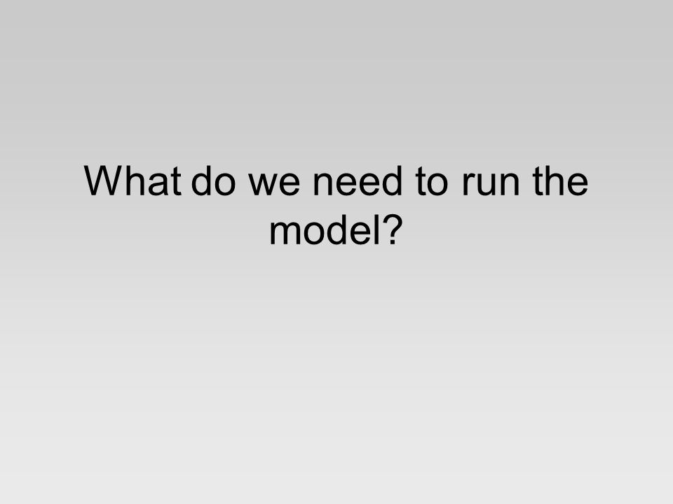 What do we need to run the model