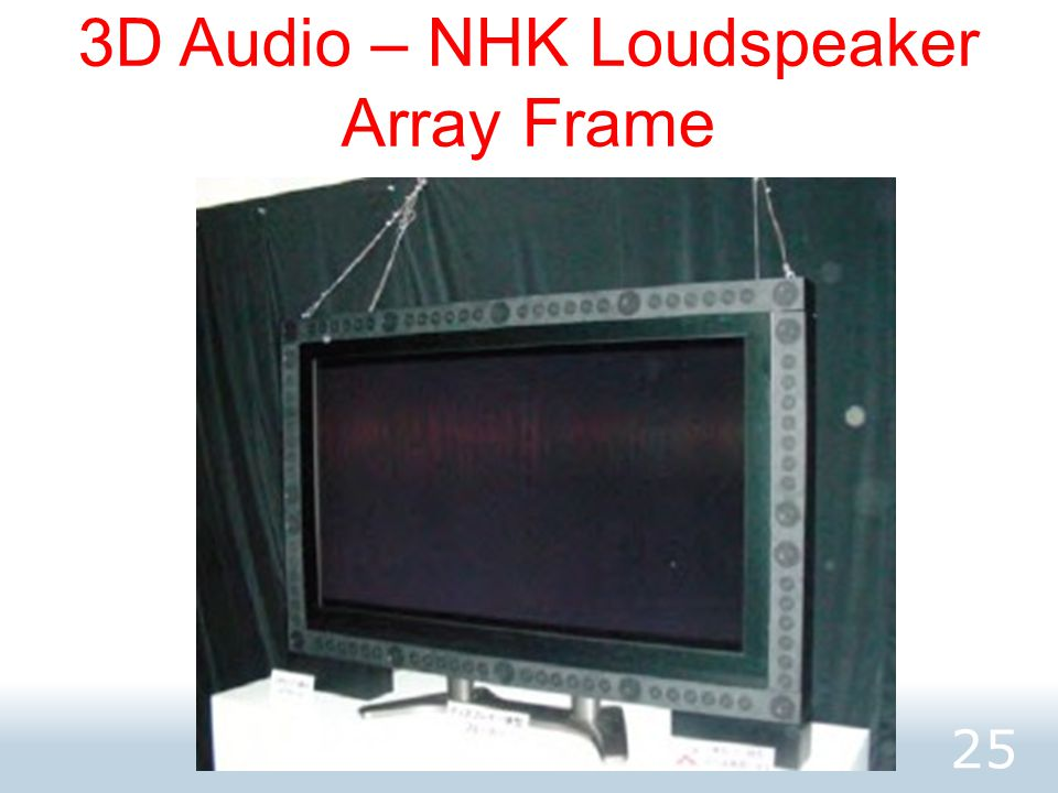 3D Audio – NHK Loudspeaker Array Frame 25