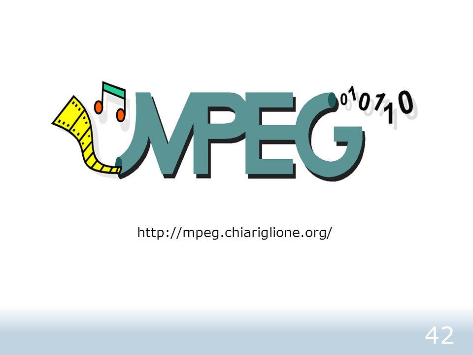 42 http://mpeg.chiariglione.org/