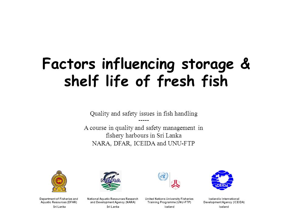 Chemical and microbial analysis Haddock fillets stored at 0°C, 7°C and 15°C TVB-N (Total volatile basic nitrogen) TVC (total viable counts) and Photobacterium phosphoreum (Pp) Adapted from: Olafsdottir et al., 2006