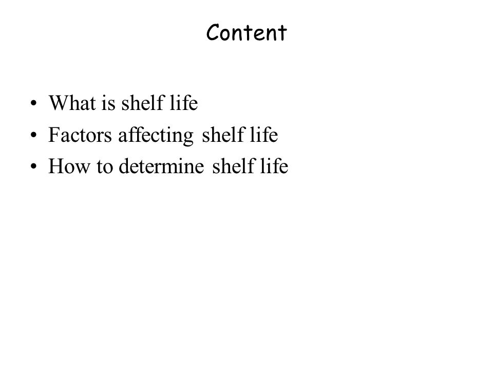 Learning Objectives After this lecture participants will be familiar with: Shelf life and factors affecting shelflife of fish raw materials.