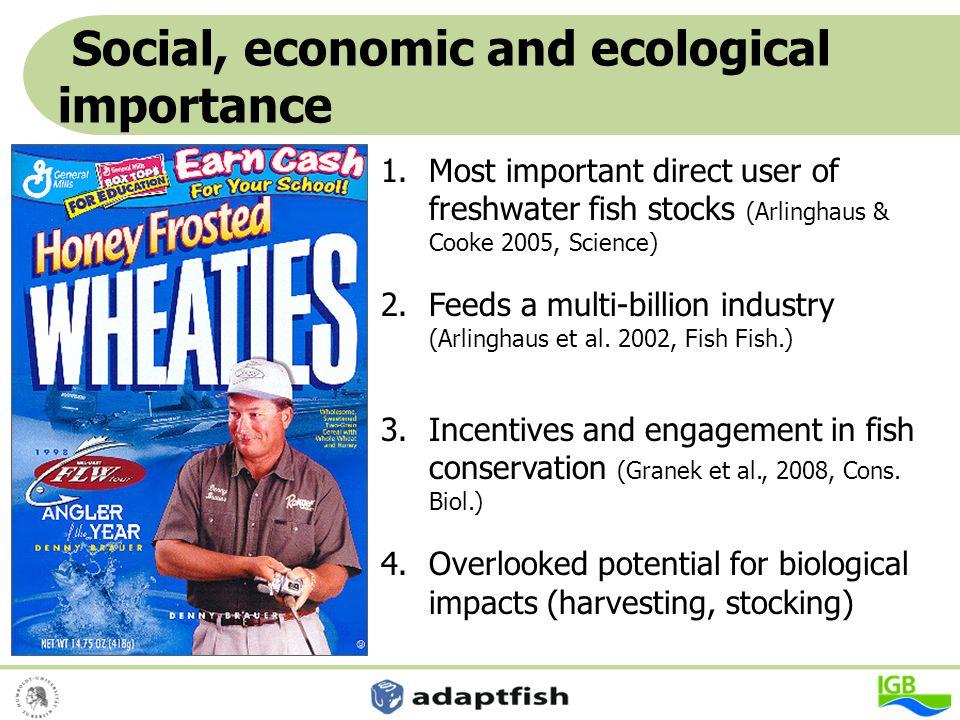 Account for a diverse fishing clientele, manage for diversity (no panaceas) Johnston, Arlinghaus, Dieckmann, 2010, Can.