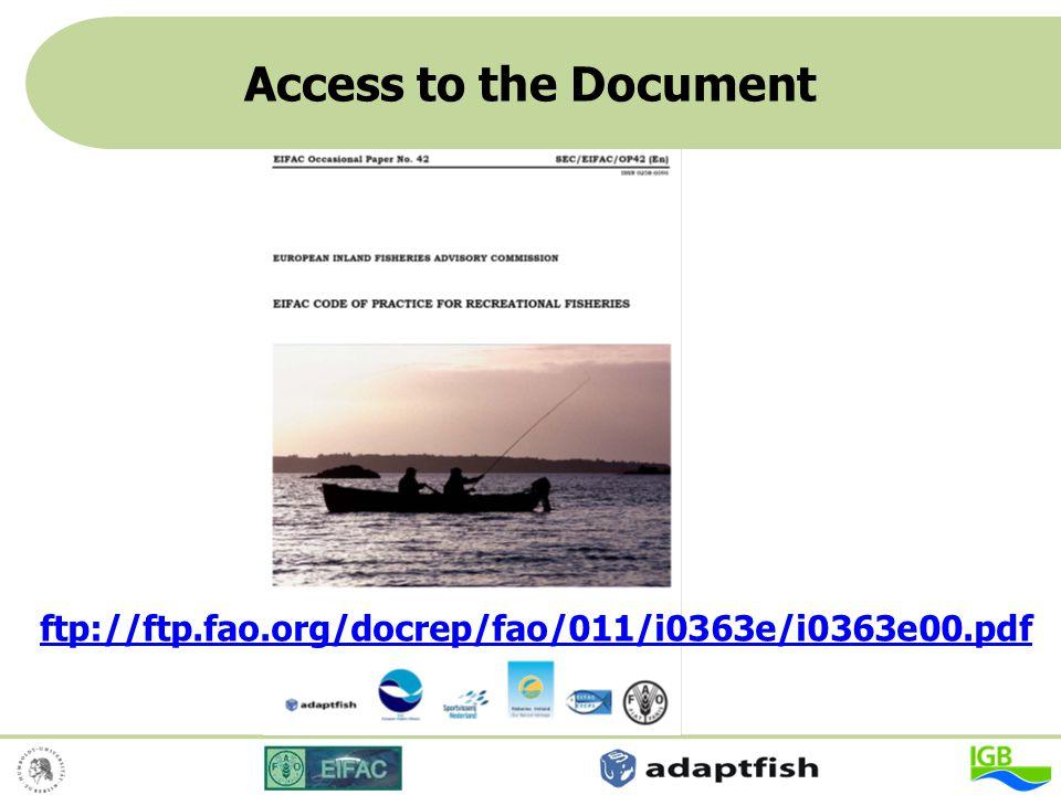 Access to the Document ftp://ftp.fao.org/docrep/fao/011/i0363e/i0363e00.pdf