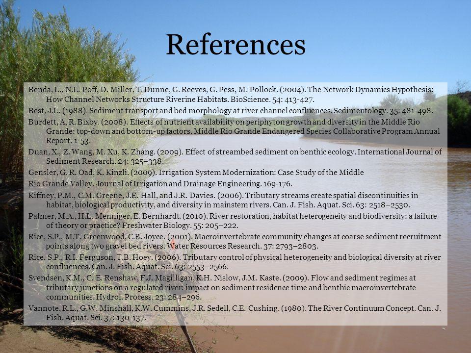 References Benda, L., N.L. Poff, D. Miller, T. Dunne, G.
