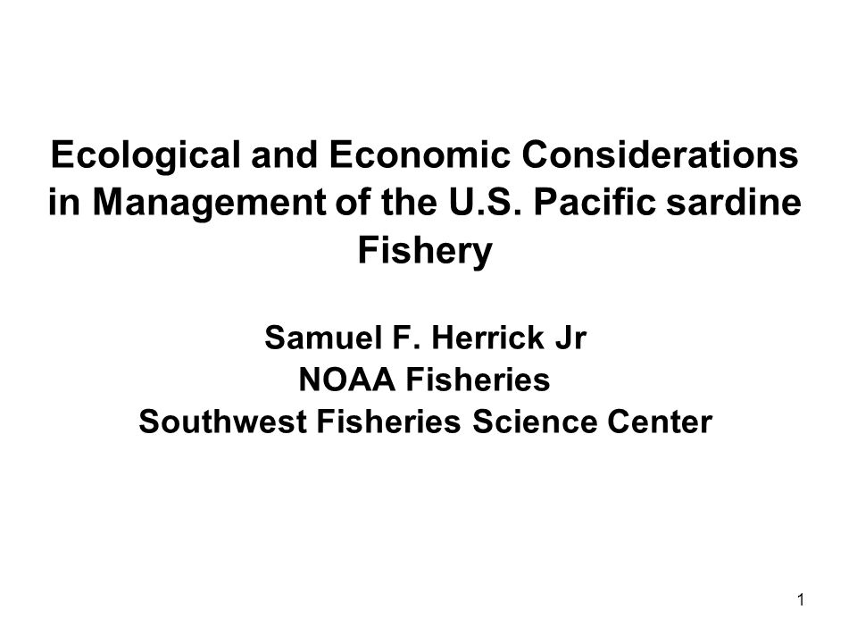 1 Ecological and Economic Considerations in Management of the U.S.