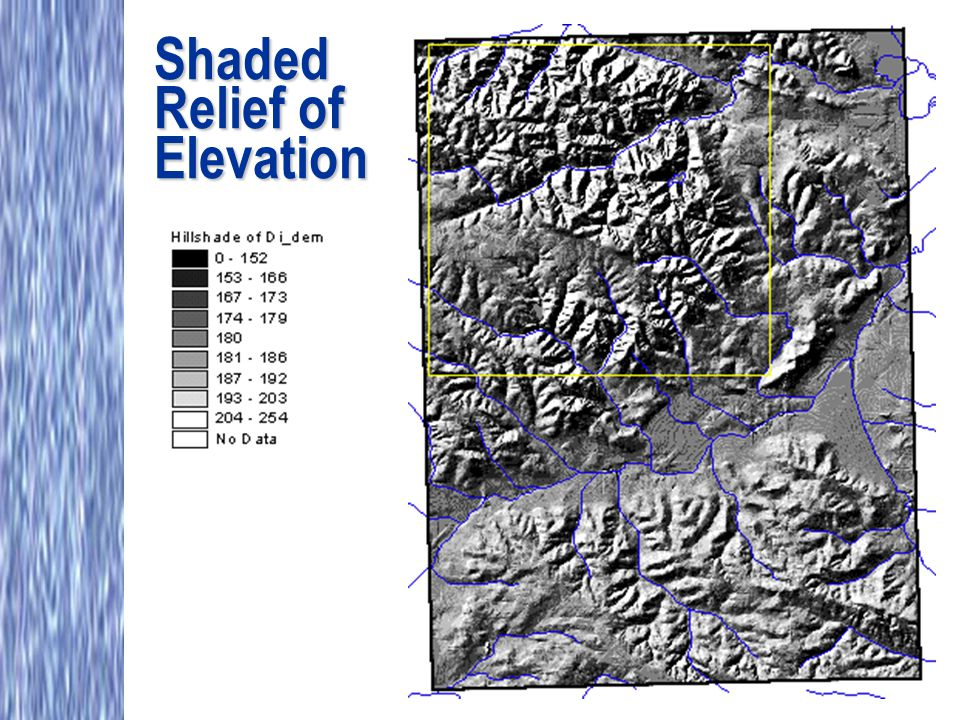 Shaded Relief of Elevation