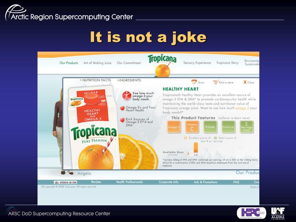 It is not a joke