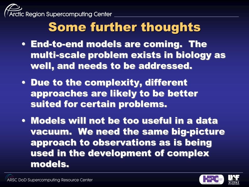 Some further thoughts End-to-end models are coming.