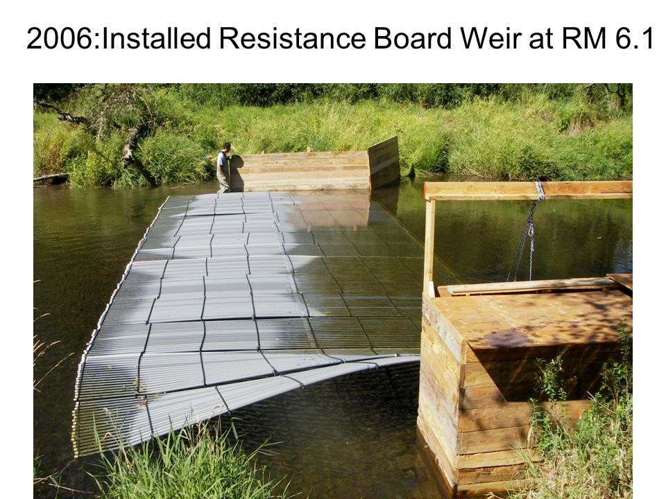 2006:Installed Resistance Board Weir at RM 6.1
