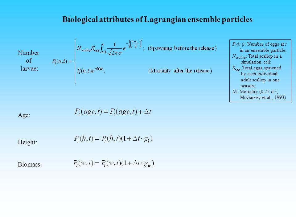 Lagrangian trajectory Trajectory: Random walking: A : Horizontal diffusivity.