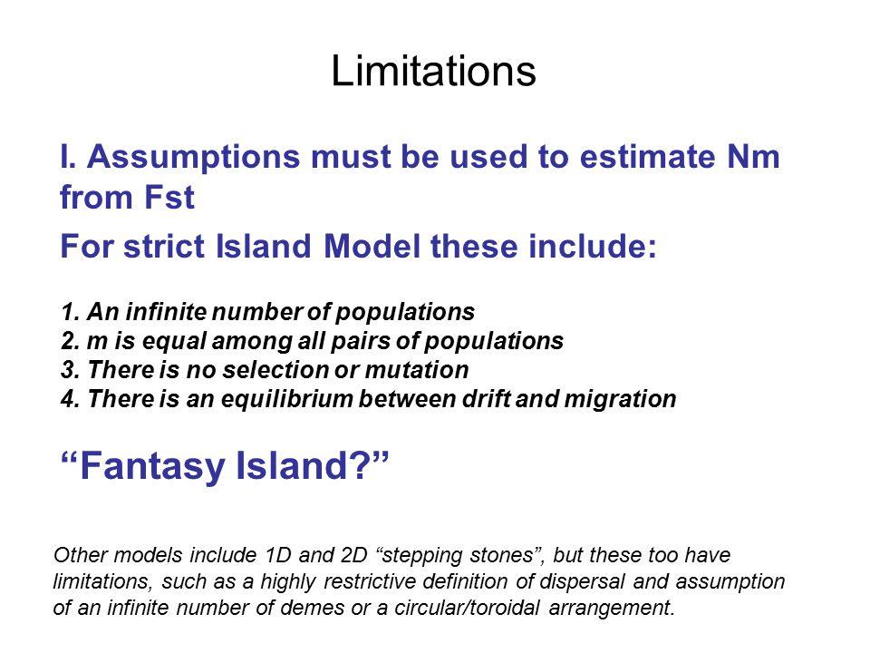 Limitations I.
