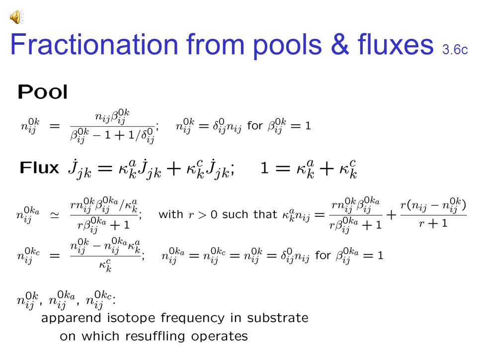 Fractionation from pools & fluxes 3.6c