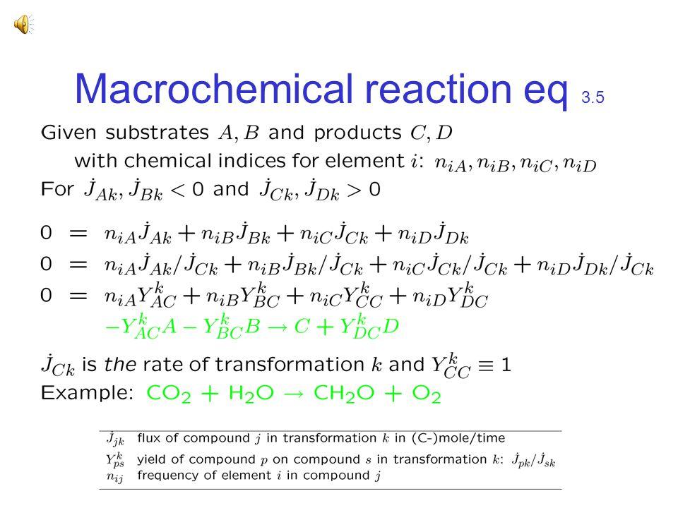 Macrochemical reaction eq 3.5