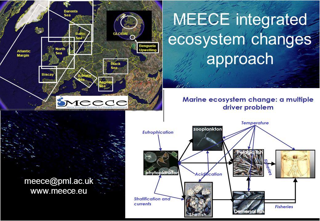 MEECE integrated ecosystem changes approach meece@pml.ac.uk www.meece.eu