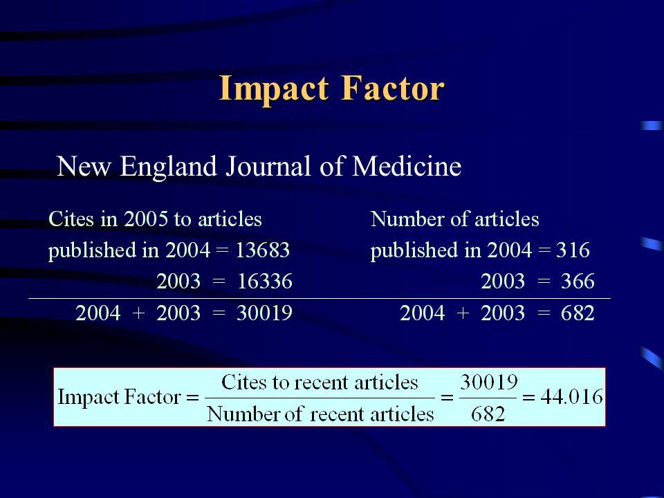 Impact Factor New England Journal of Medicine
