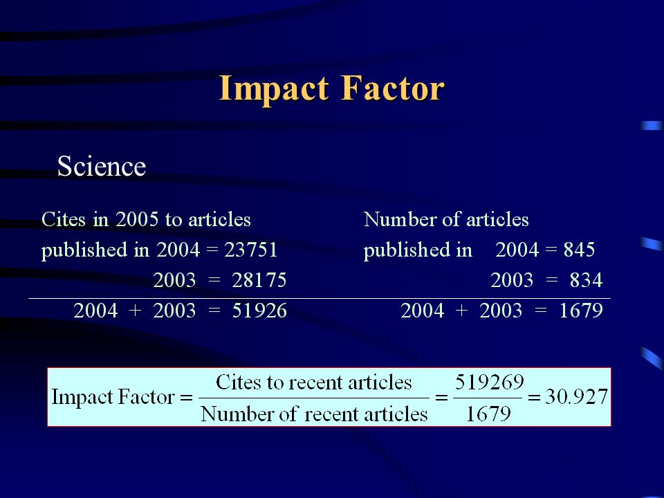 Impact Factor Science