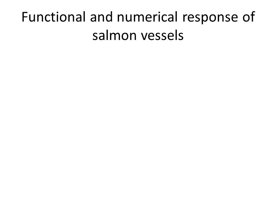 Functional and numerical response of salmon vessels