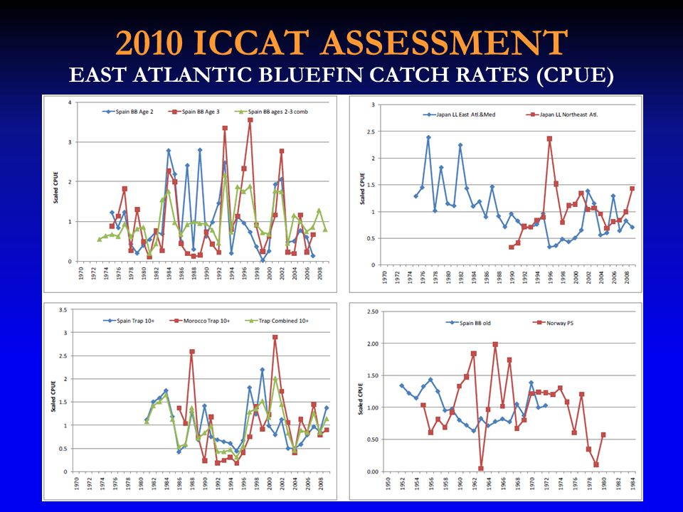 2010 ICCAT ASSESSMENT EAST ATLANTIC BLUEFIN CATCH RATES (CPUE)