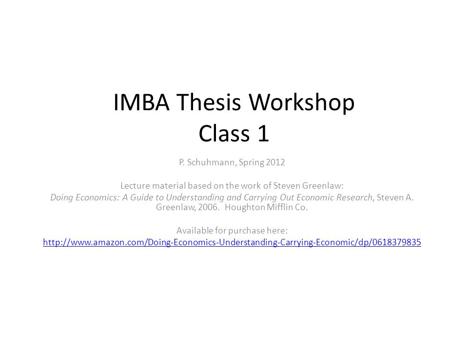 Thesis outline Title Abstract Table of contents Acknowledgements Introduction Literature review Theory Data Methods Results Discussion & conclusions References Appendices