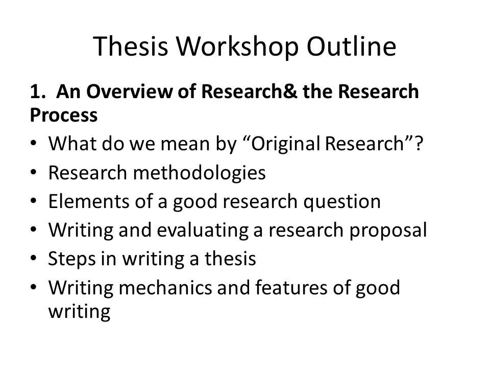 Thesis Workshop Outline 2.