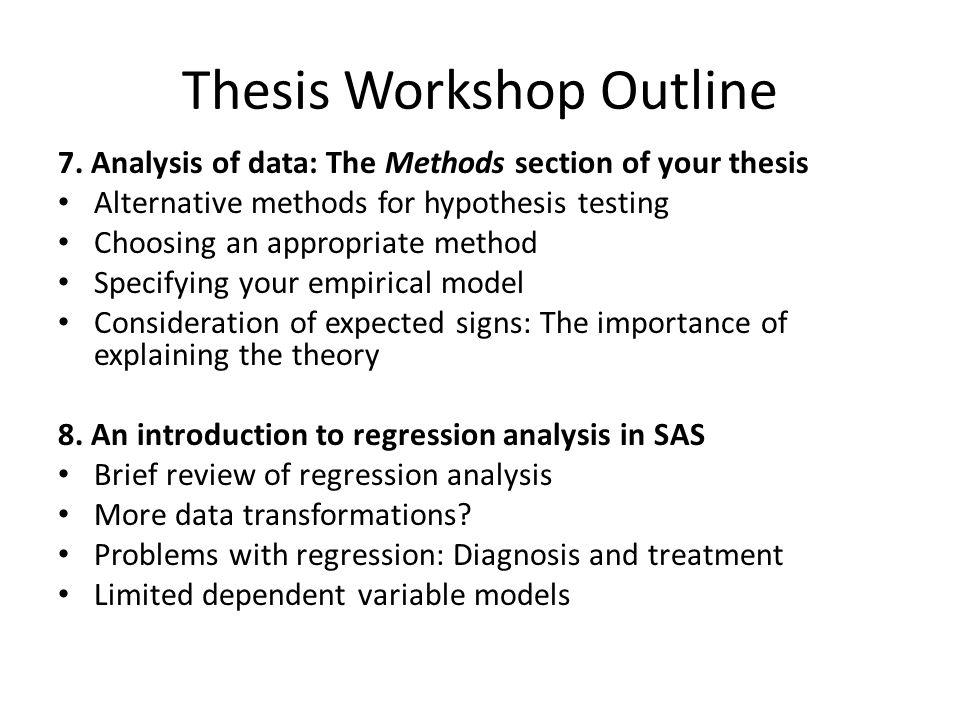 Thesis Workshop Outline 9.
