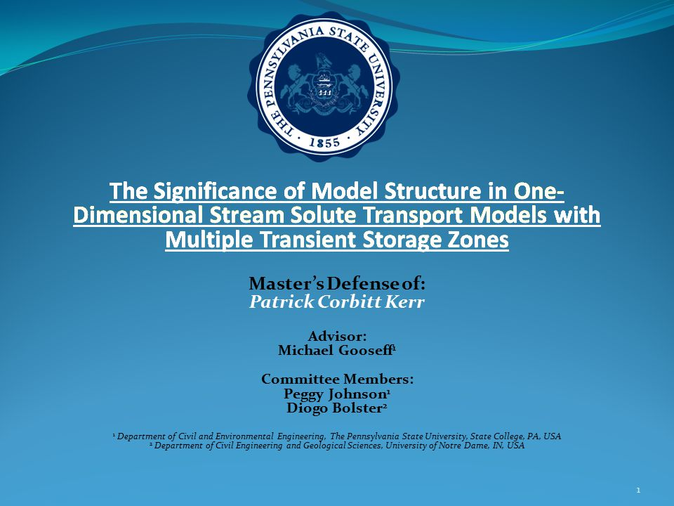 Numerical Model Runkel's OTIS was converted to Matlab, multiple storage zones and a GUI were added.