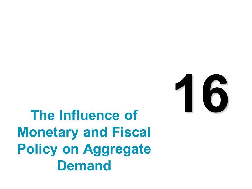 16 The Influence of Monetary and Fiscal Policy on Aggregate Demand