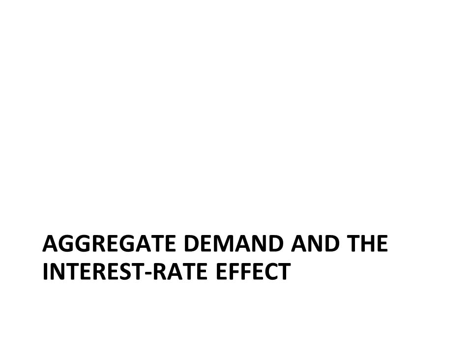 AGGREGATE DEMAND AND THE INTEREST-RATE EFFECT