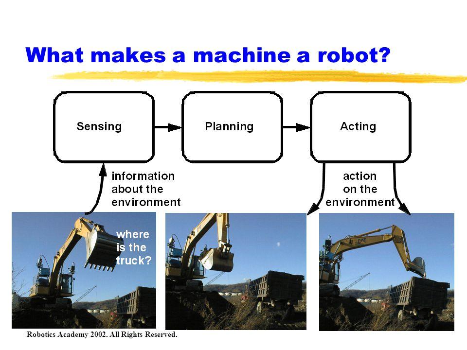 What makes a machine a robot?