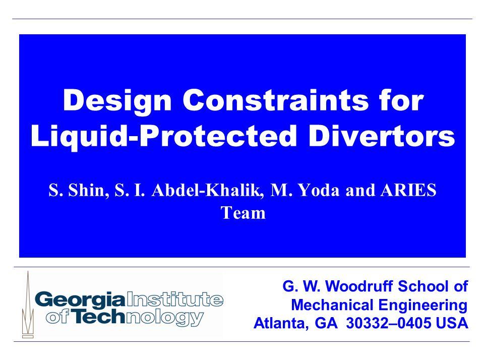 Design Constraints for Liquid-Protected Divertors S.