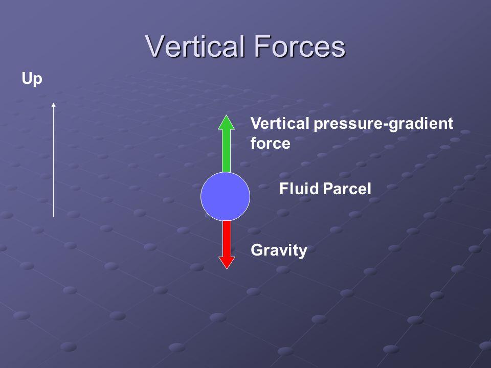 Newton's 2 nd Law dw/dt  upward force – downward force Upward force > downward force  upward acceleration Downward force > upward force  downward acceleration