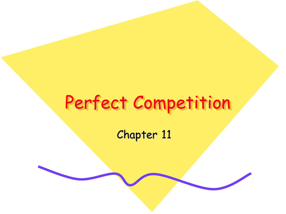 Perfect Competition Chapter 11