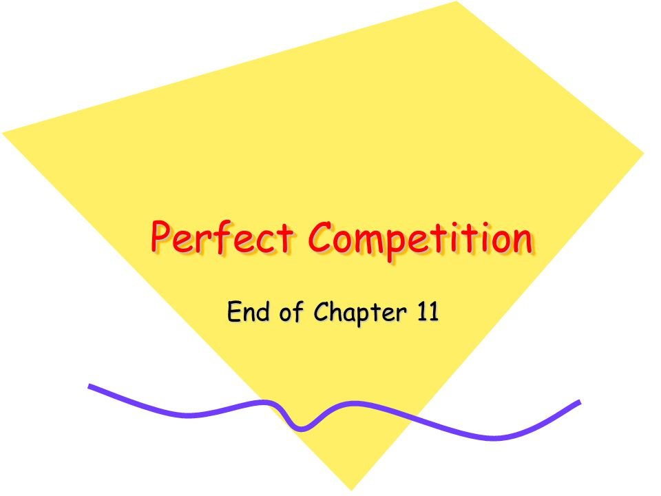 Perfect Competition End of Chapter 11