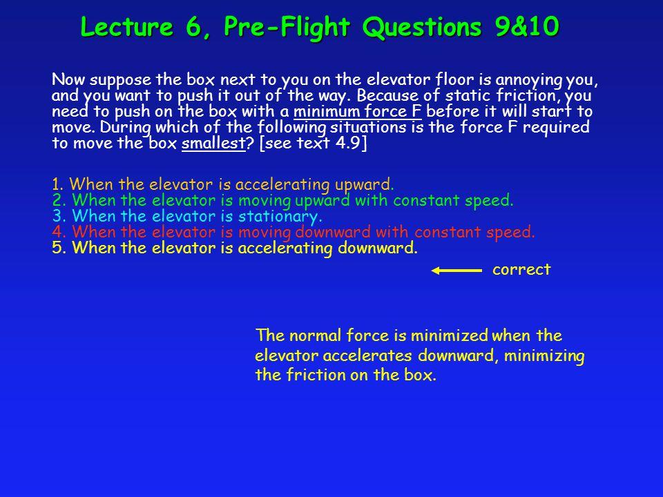 FNFN W a  F y = ma y F N - W = ma y F N = W + ma y Note: if free fall, a = -g Then F N = W- mg = 0.