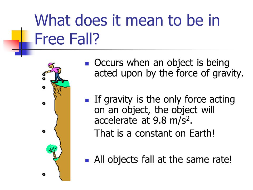 What does it mean to be in Free Fall.