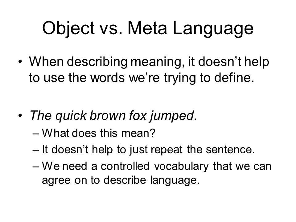 Object vs.