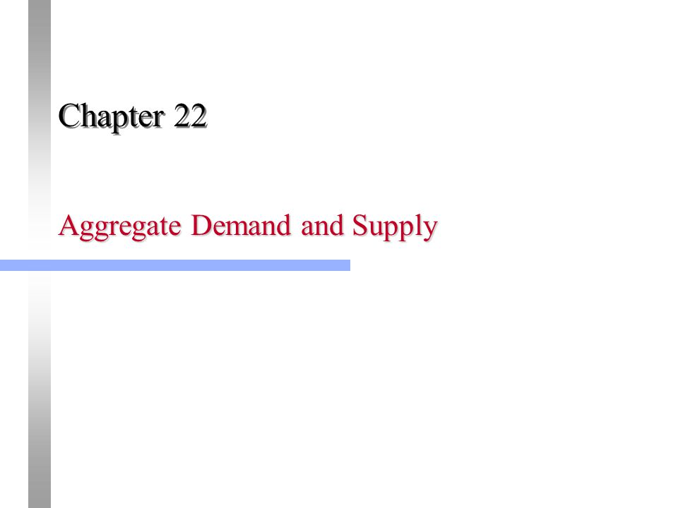 Aggregate Demand and Supply Chapter 22