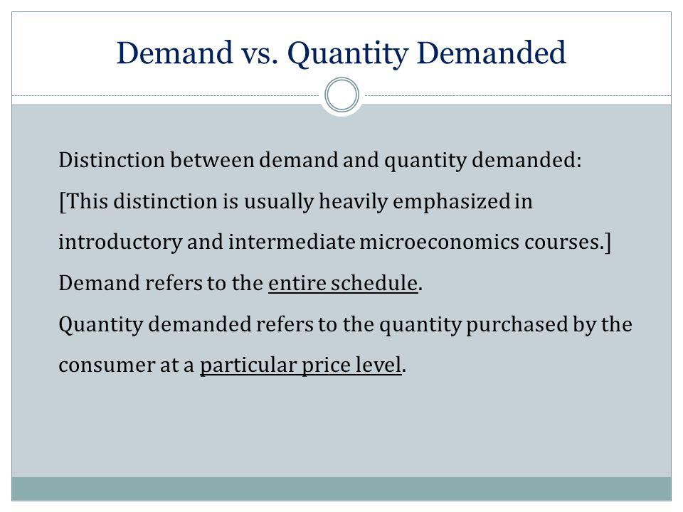 Demand vs.