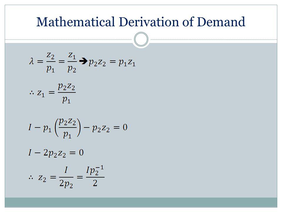 Mathematical Derivation of Demand