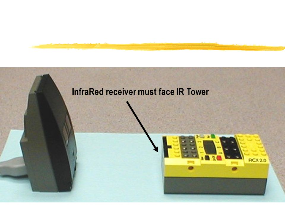 InfraRed receiver must face IR Tower