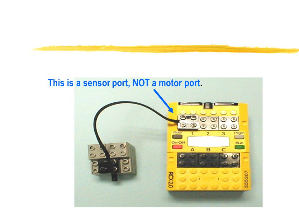 This is a sensor port, NOT a motor port.