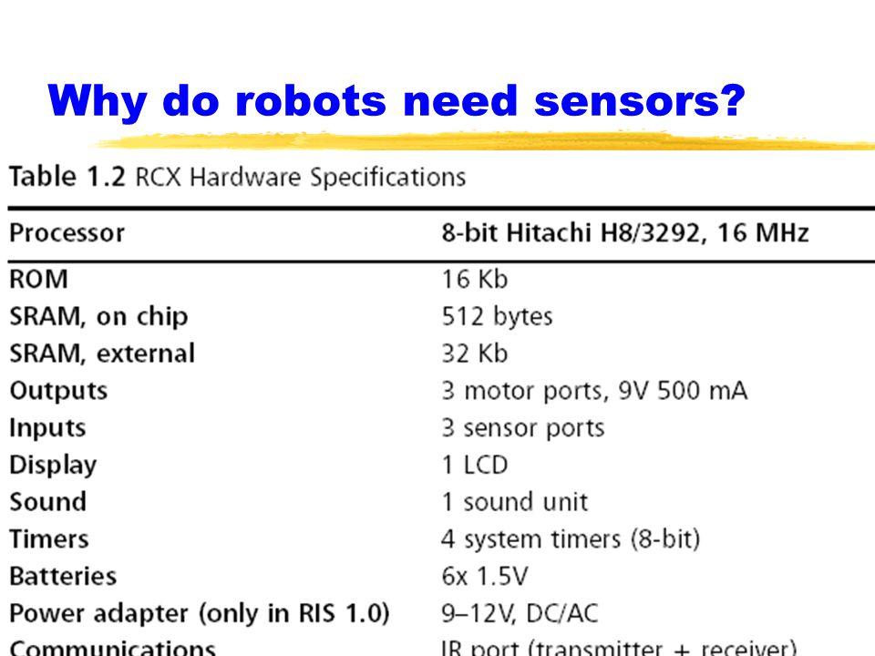 Why do robots need sensors?