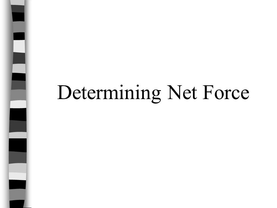Determining Net Force